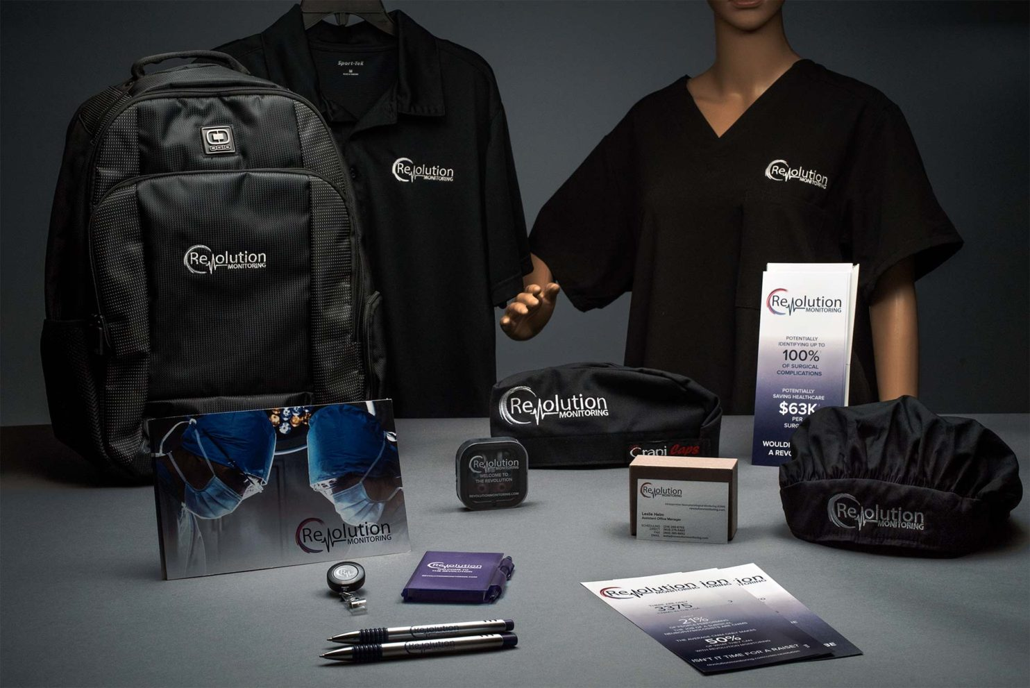 Table of branded products for healthcare clients